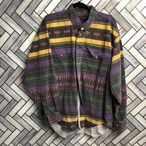 Bayou Sport Vintage Aztec Button Up Shirt